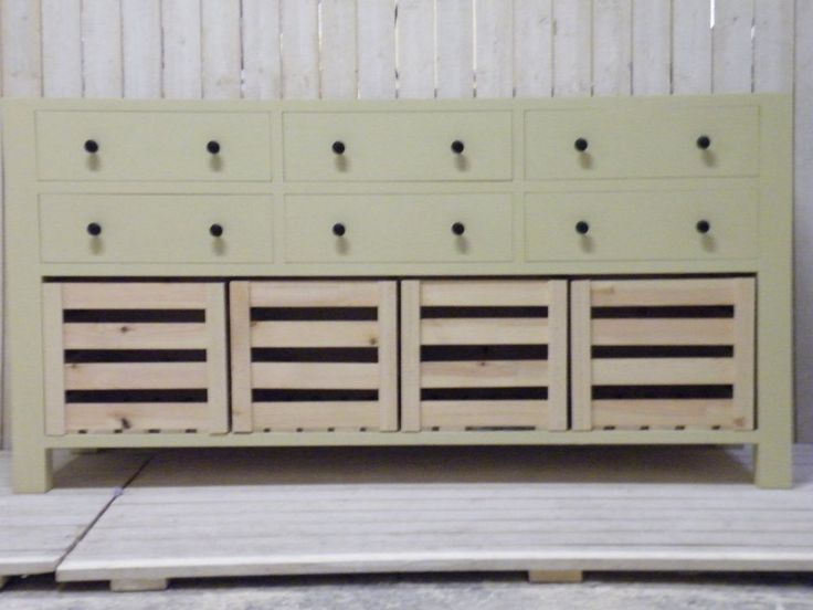 Freestanding, Handmade, Handpainted Multi Drawer and Crate Unit (BBC14/5)