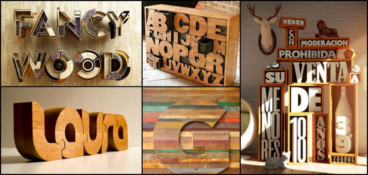 Decorar con letras: letras de madera