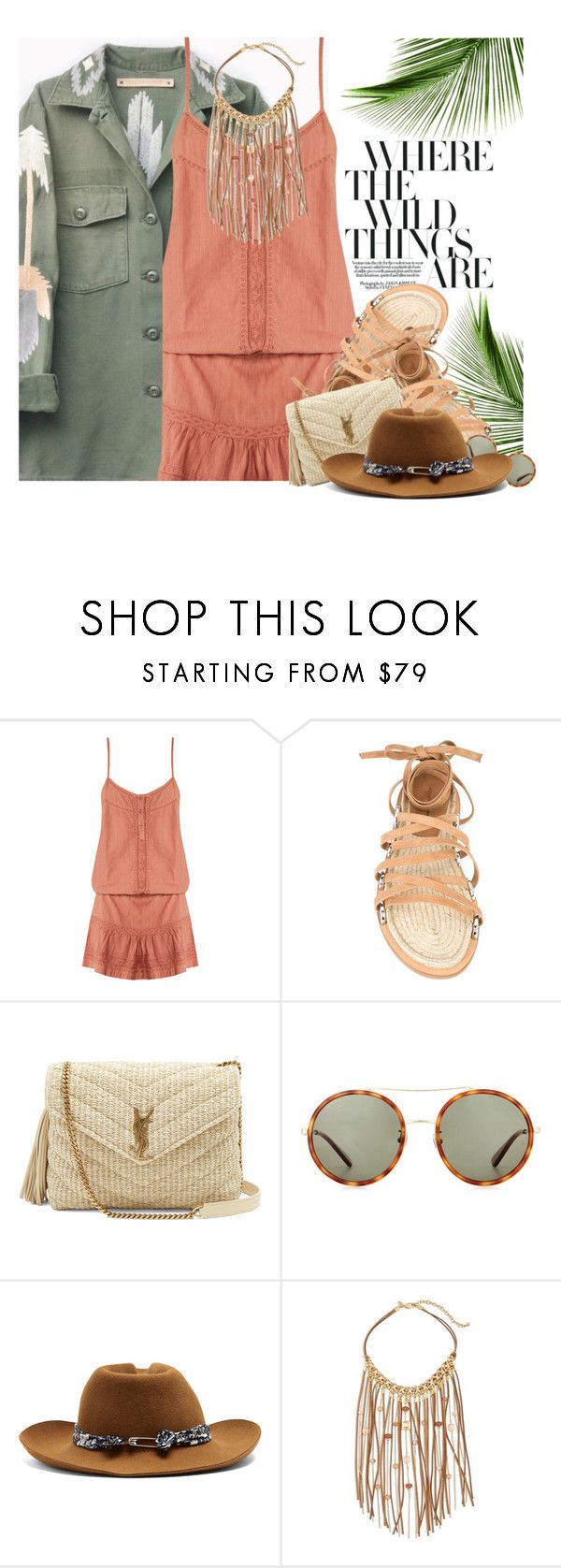 """""""Dancing In The Desert: Romping Around"""" by hollowpoint-smile ❤ liked on Polyvore featuring Melissa Odabash, Alexander Wang, Yves Saint Laurent, Gucci, Maison Michel and Chico's"""