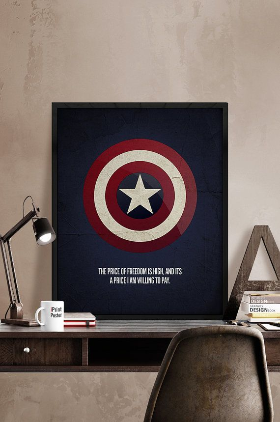 Captain America, Print, Poster, Wall Art, Superhero poster, Marvel, Art, Heroes Illustrations, Artwork, Comic art print, Gift, Home Decor.