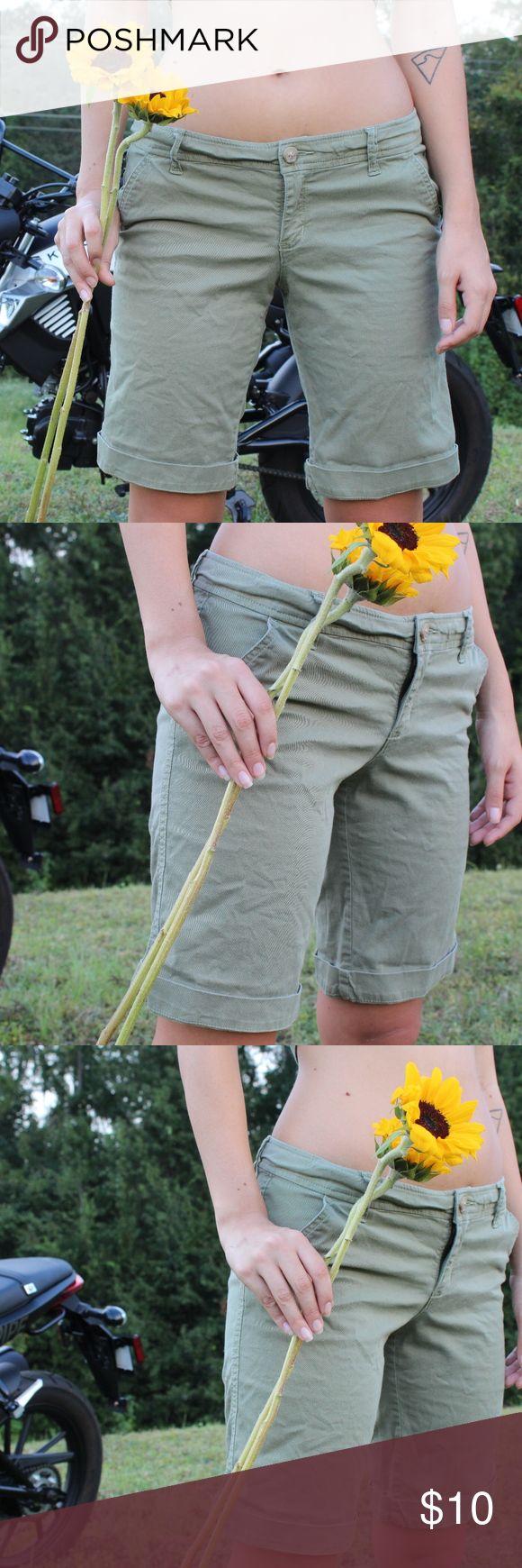 Hollister Shorts Size 9 beautiful olive green Hollister Shorts Hollister Shorts