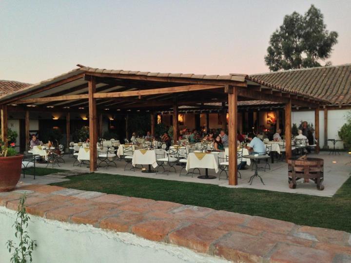 New covered patio on the vineyard  Santa Cruz, Chile