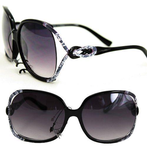 Celebrity Sunglasses Gaga Style P1863 Black Quality Sunglasses UV400 Lens Technology, Light Weight frame Purple Black Gradient Lens, Trendy Fashion Everyday Apparel for Women