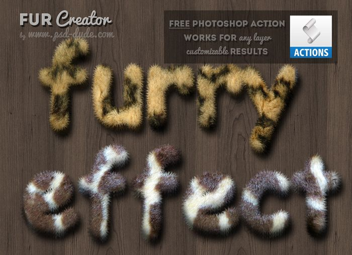 Photoshop Fur And Furry Effect Free Action