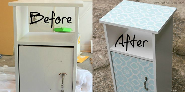 Stenciled Cabinet with Royal Design Studios Chez Ali Moroccan stencil, cool How-to by DIY on the Cheap blog www.RoyalDesignStudios.com