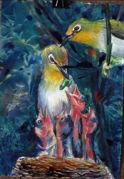 Feeding no.1 - Water color, 2013