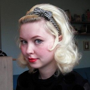 Also a possible prom hair. I really want to do a bump like this, but I would keep my bangs down.