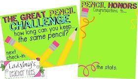 Ladybug's Teacher Files: Pencil Honors! (The Great Pencil Challenge Part 2)