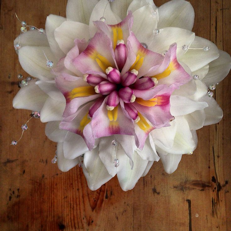 Composite bouquet of Cymbidium orchids Bernie Coffey @ Win @ Jim flowers.