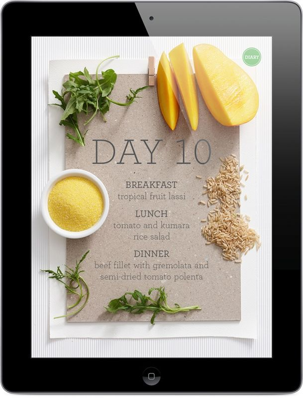 beautifully designed ipad edition of low-fat diet cookbook by hieu nguyen