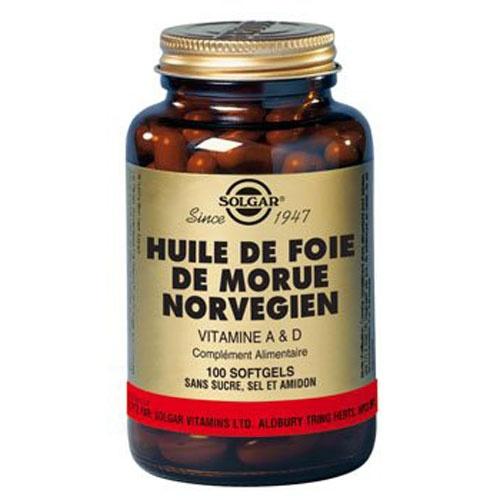 Huile de Foie de Morue est naturellement riche en vitamine D et A.