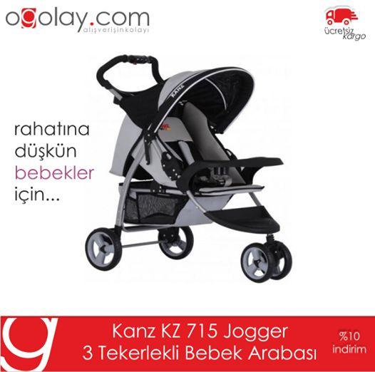 Rahatına Düşkün Bebekler İçin...Jogger 3 Tekerlekli Bebek Arabası %10 İndirimle ogolay.com 'da..http://bit.ly/1swNkR7