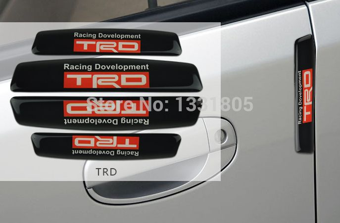 Cheap sticker car, Buy Quality door warehouse directly from China stickers for girls rooms Suppliers: 4pcs/set Silicone Car Door Side Edge Protective Sticker Bumper Strip for Toyota TRD Styling