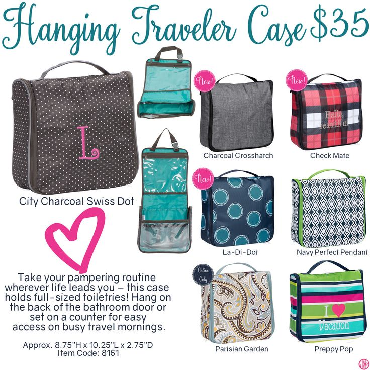 Hanging Traveler Case by Thirty-One. Fall/Winter 2016. Click to order. Join my VIP Facebook Page at https://www.facebook.com/groups/1603655576518592/