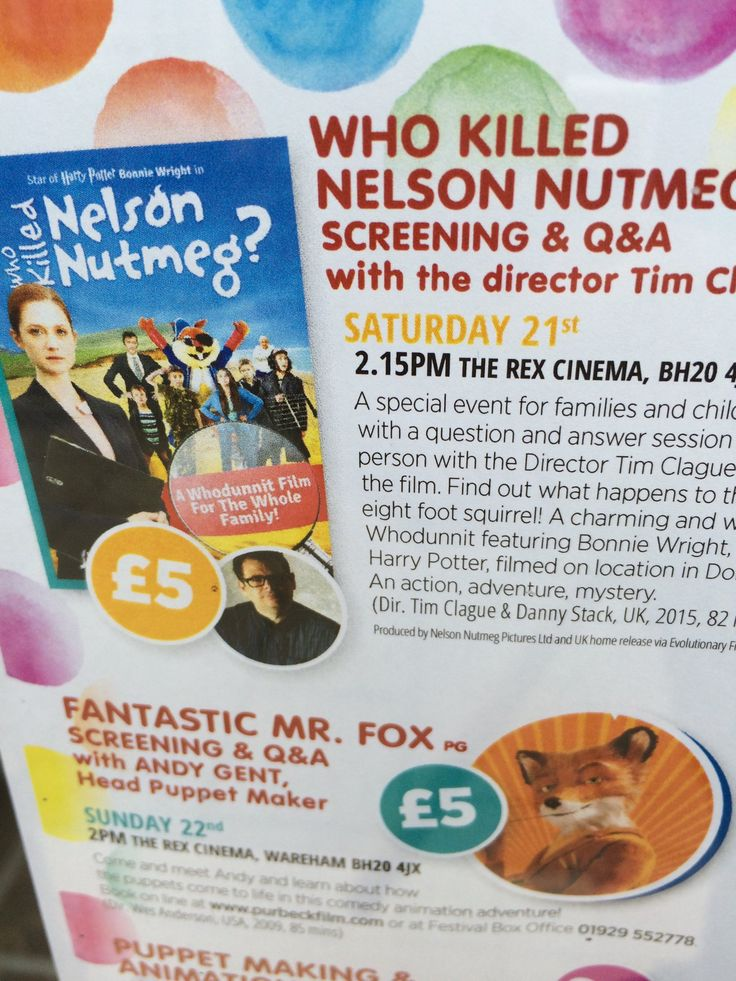 Come along to the Wareham Rex NEXT SAT 2pm for final Nutmeg screening + Q&A. All part of the Purbeck Film Festival. https://therex.admit-one.eu/?p=tickets&perfCode=2270