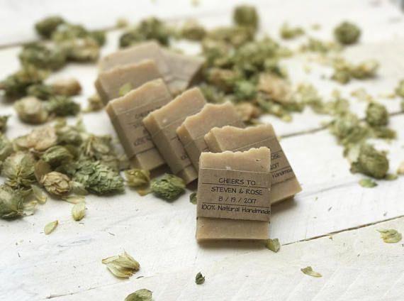 Unique Wedding Favor Ideas #sponsored - Wedding Favors - Homemade Soap Favors - Rustic Wed…