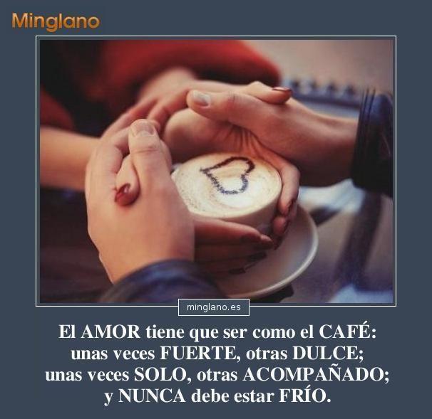 Frases sobre el amor y el café