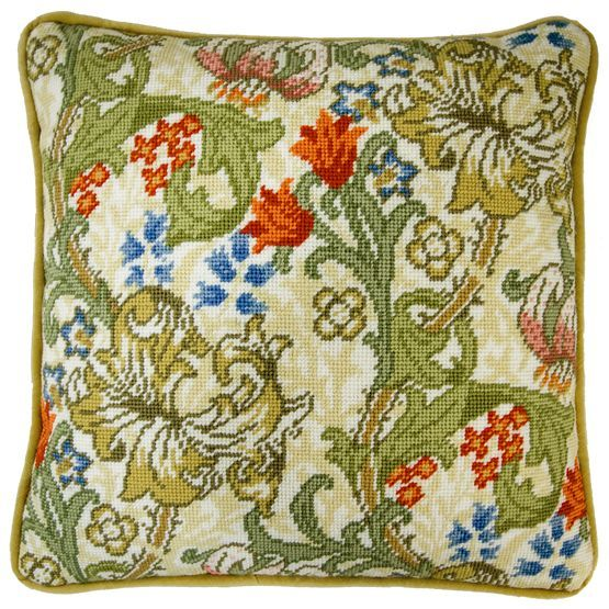 This elaborate tapestry kit has been adapted to the original work of much loved English designer & artist William Morris.