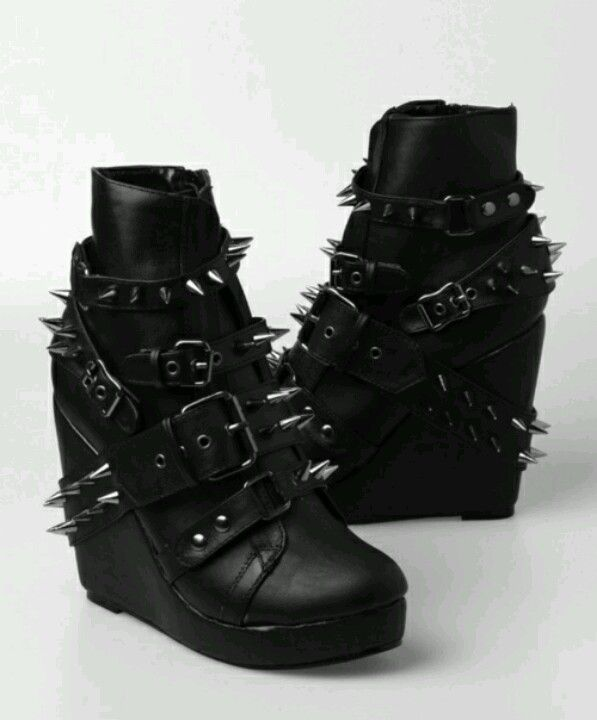 Spiked gothic style boots