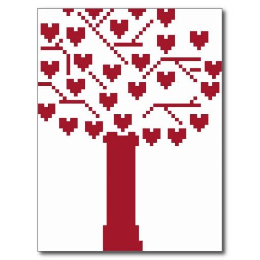 Heart tree postcard 0.70p