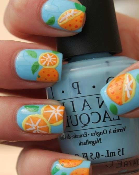 Fruit Inspired Nail Designs Worth Trying - love this! #fruitinspiredbeauty #thatsitfruit