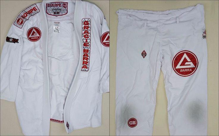 Gracie Barra Pro Gi White Official Kimono Brazilian Jiu Jitsu BJJ MMA PATCHES A1 #GracieJiuJitsu #Kimono #mma #JiuJitsu #gracie