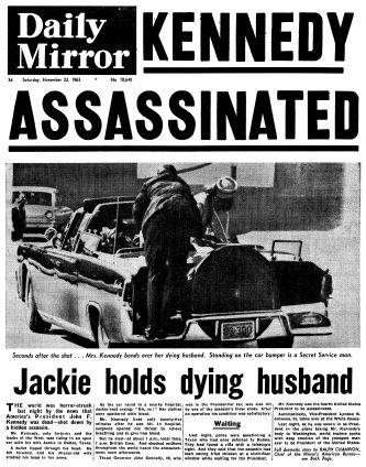 U.S. President John F. Kennedy is shot to death in Dallas. Texas Governor John B. Connally is also seriously wounded and Vice President Lyndon Baines Johnson takes over as the 36th President