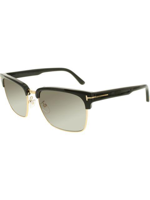 08d37de608a4 Check out Tom Ford Men s Polarized Ft0367-01d-57 Black Square Sunglasses