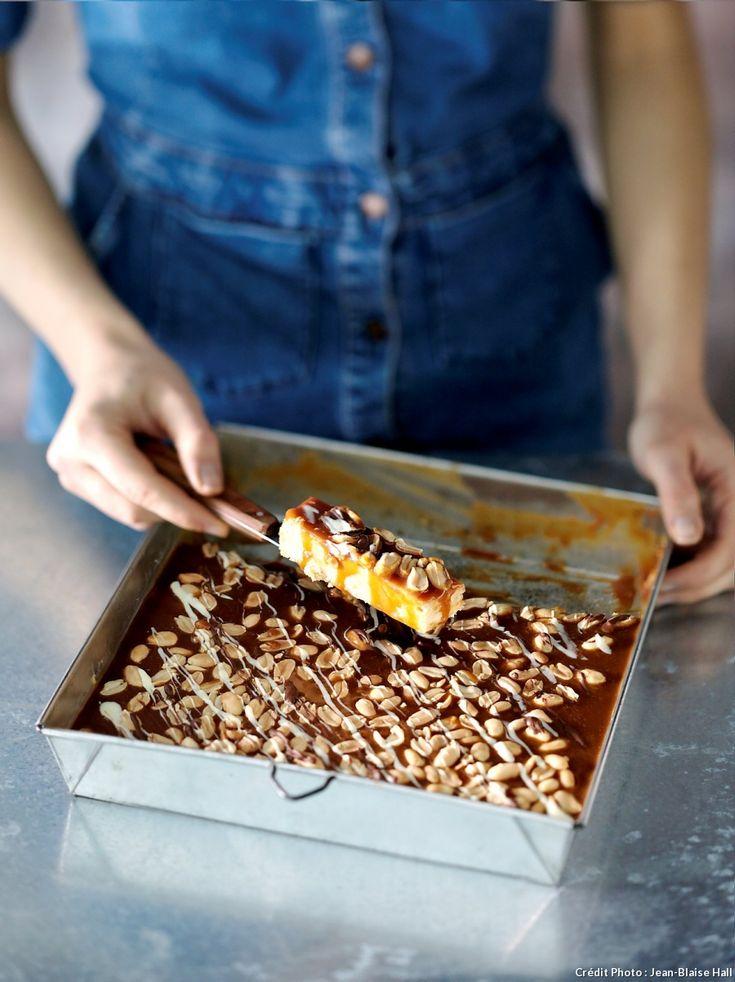 Barre chocolat - caramel - Si vous préférez la version terroir au style british, remplacez le shortbread par un sablé breton !