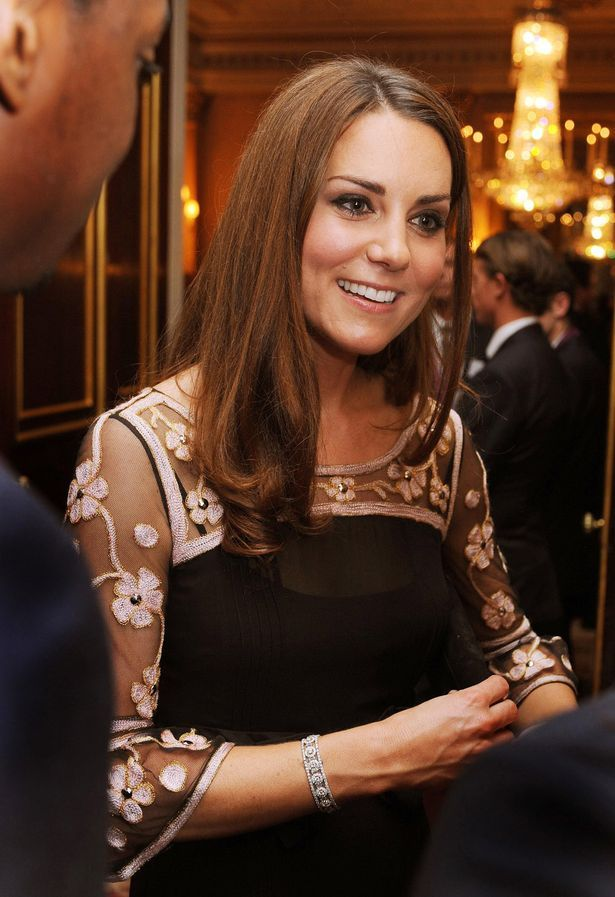Smiles: The Duchess of Cambridge at the reception
