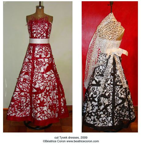 Beatrice Coron - cut paper dresses