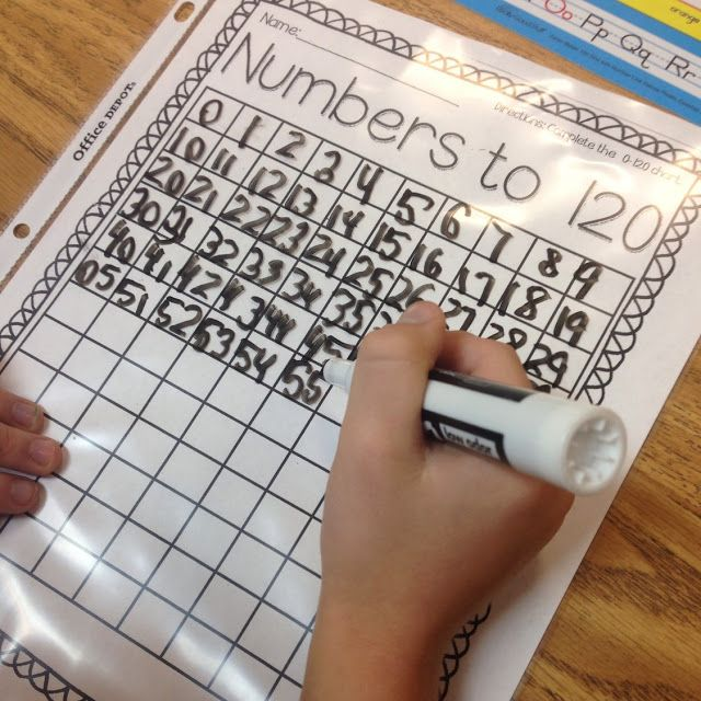 Beginning of the Year Math Stations in First Grade