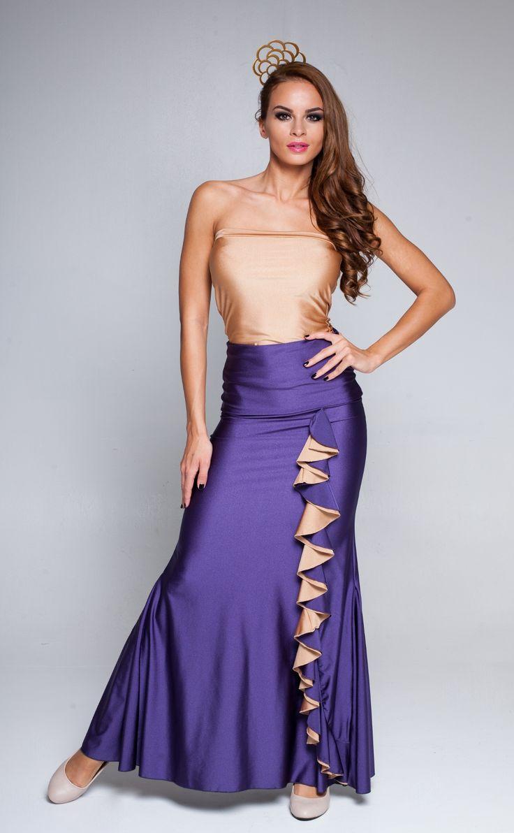 Another amazing creation by Gabriella Hazi: Waterfall flounce flamenco skirt.