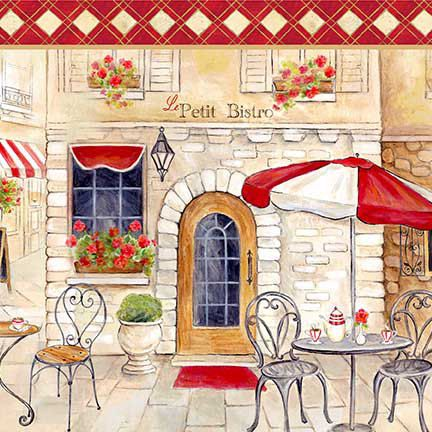 French Bistro Fabric Le Petit Bistro Stripe By Cynthia