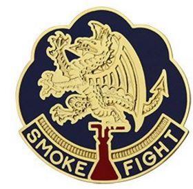 490th Chemical Battalion Unit Crest (Smoke Fight)