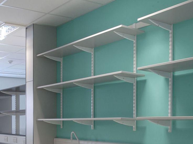 wall mounted shelving..dispensary