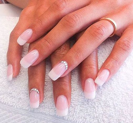 """The most elegant manicure    In the late 1970 Orly,the nail polish brand , founded by Jeff Pink, crated a French Nails kit for home use.  He named it""""The Natural Nail Look"""". But experts think that this trend goes much further"""