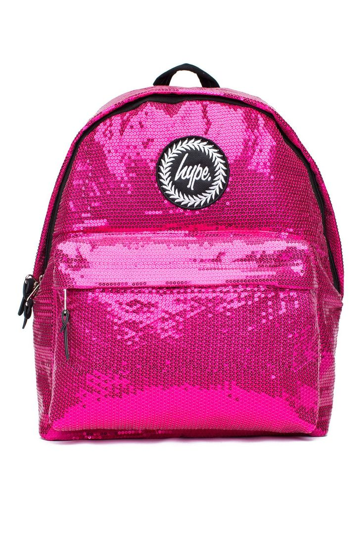 **Pink Sequin Backpack by Hype - Bags & Purses - Bags & Accessories - Topshop