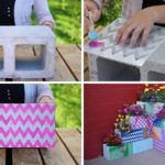 Make This Easy, Colorful, Modern Outdoor DIY Planter Using Cinder Blocks