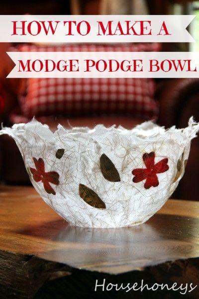 Modge Podge Bowl Craft Ideas Pinterest How To Make