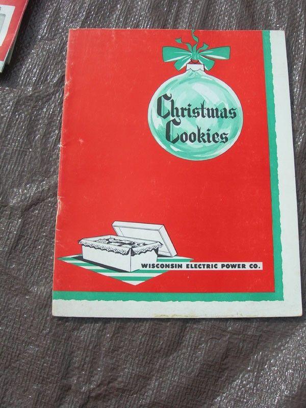 vintage christmas cookbooks | Vintage Christmas Cookie Cookbook From Wisconsin Electric Power ...