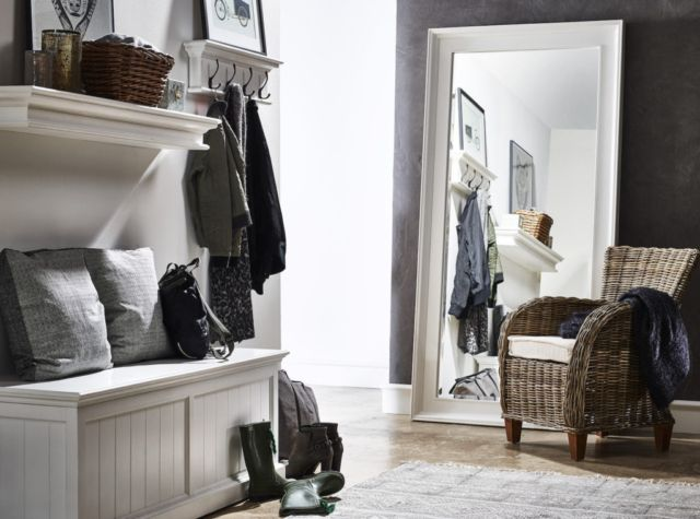 Style tip: soften the look by topping with scatter cushions or a loosely draped sheepskin rug. This will turn the chest into cosy storage bench.