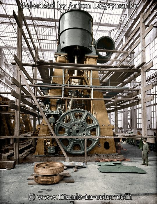 Steam Ship Engine Room: 87 Best Images About Titanic In Color On Pinterest