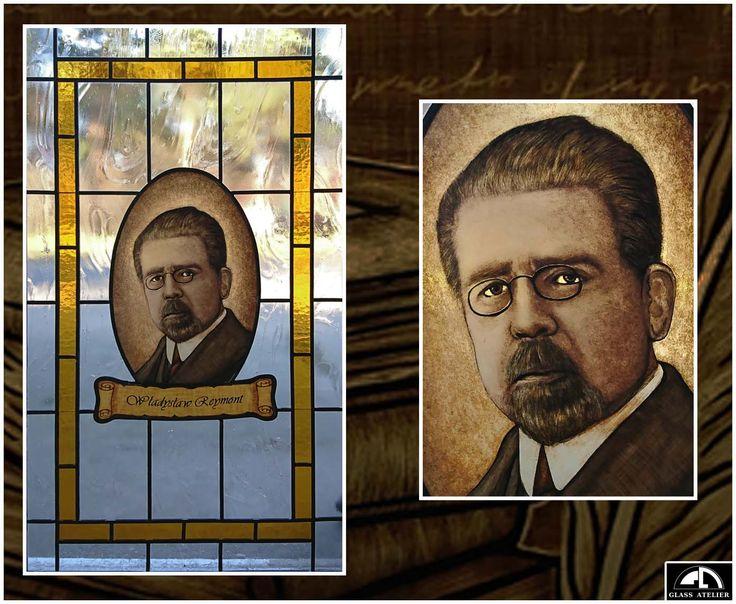 #glassatelier , #polandhandmade , #curie , #polak , #witraz , #stainedglass , #reymont , #pisarz , #literatura