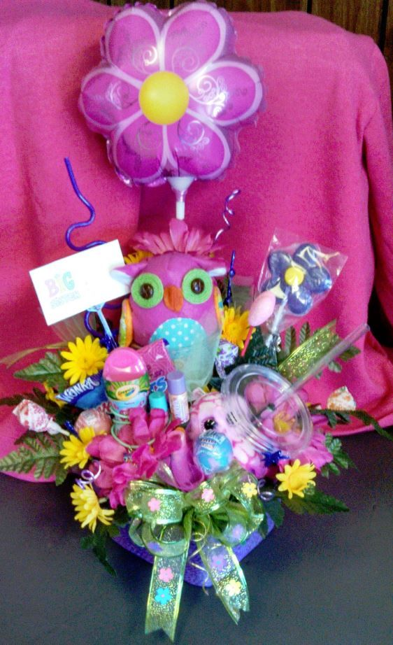 Owl Theme Big Sister Gift Basket