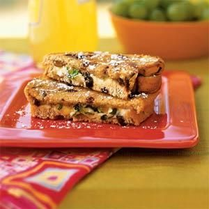 Grilled Goat Cheese Sandwiches with Fig and Honey Recipe | MyRecipes.com