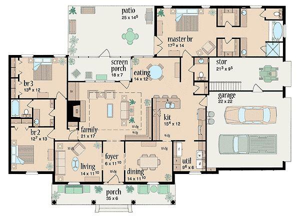 Plan 8422jh southern hospitality house plans craftsman for Southern craftsman home plans