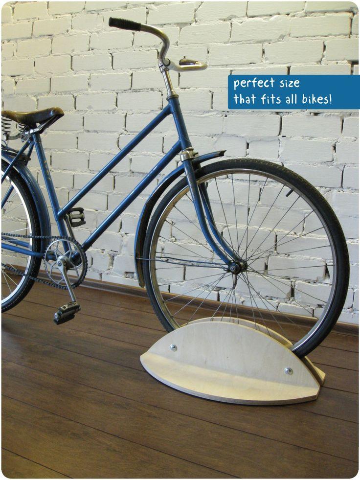 Bicycle stand, Bike holder, Bicycle rack, woodden bike accessories by BikeWoodHome on Etsy https://www.etsy.com/listing/206504437/bicycle-stand-bike-holder-bicycle-rack