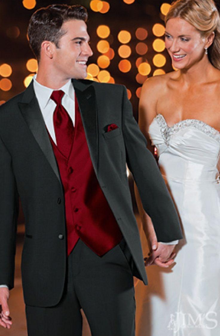 black and red tux   black-lauren-ralph-lauren-saville-2-button-peak-lapel-tuxedo-coat-962 ...