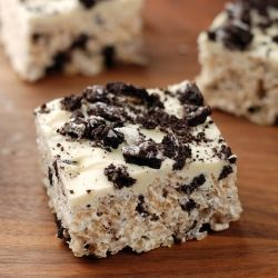Oreo Rice Krispie Treats: Sweet, Oreo Rice, Recipe, Food, Rice Krispies, Rice Krispie Treats, Dessert, Krispy Treats
